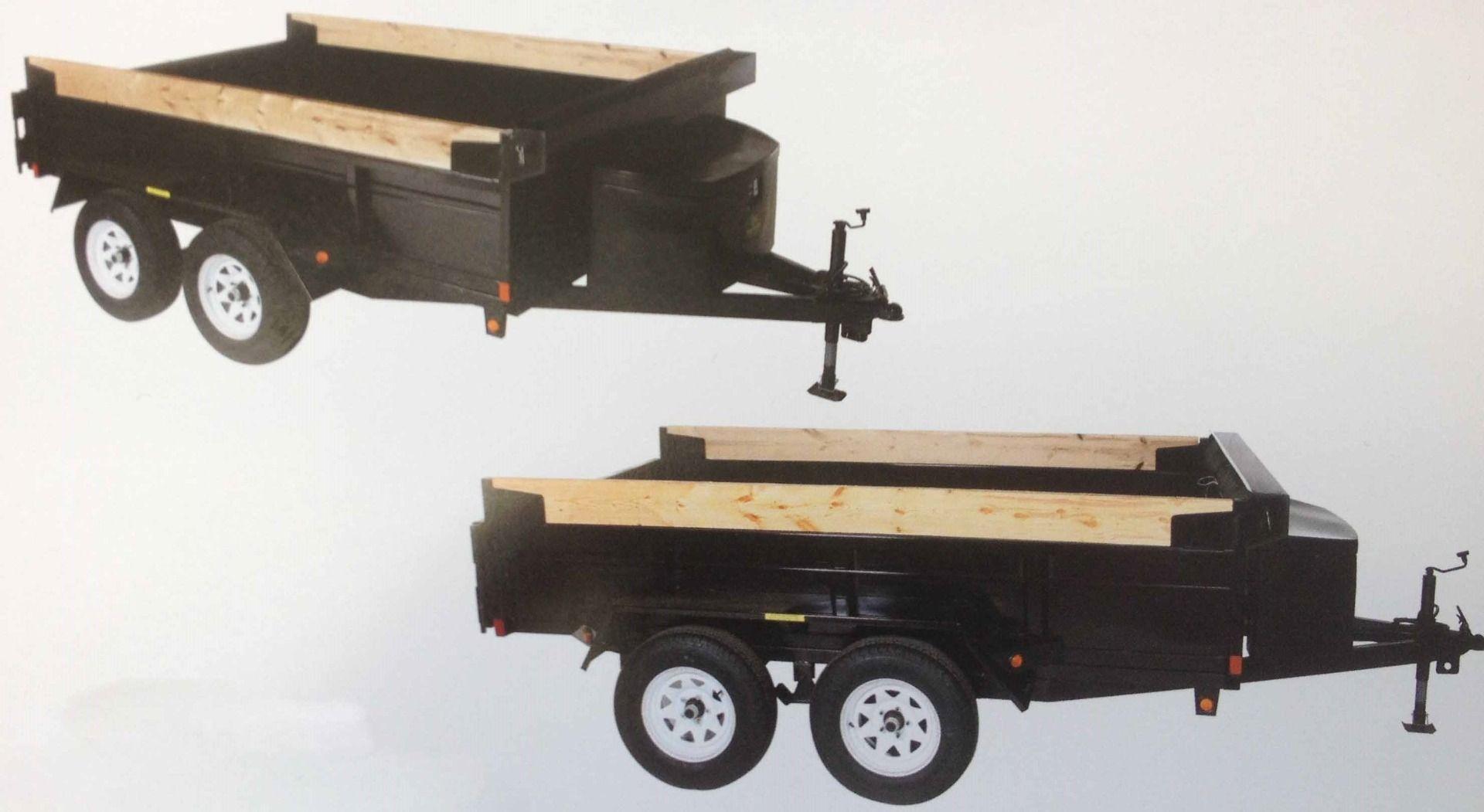 """JDJ General Dump Tandem Trailer GD 585 (5' W x 8'6"""" L)"""