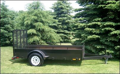 "JDJ General Duty Landscape Single Trailer (4'2"" W x 8'2"" L) Model GDLS 48"