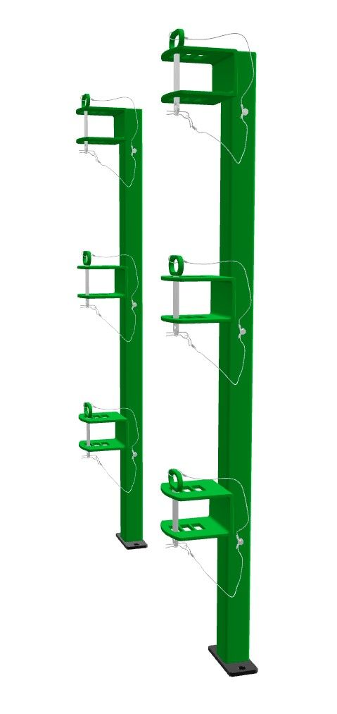 LB012 Trailer Rack designed for open landscape trailers