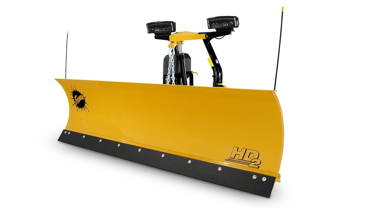 "With the chain lift system, you get instantaneous ""float"" when lowering the blade. Unrestricted, the blade can freely follow the contours of the plowing surface for a cleaner scrape."