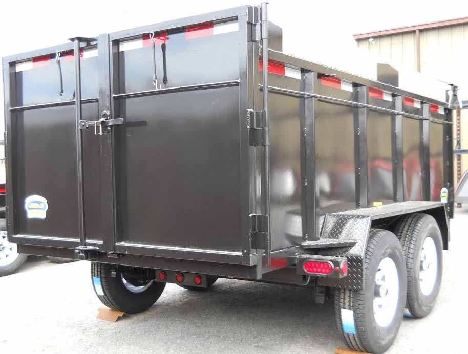 JDJ Heavy Duty Dump Tandem Trailer HDD 612 with 2' high sides (6' W x 12' L)