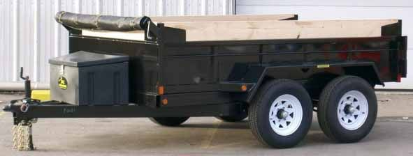General Dump Tandem Trailer GD 610 by JDJ (6' W x 10' L)