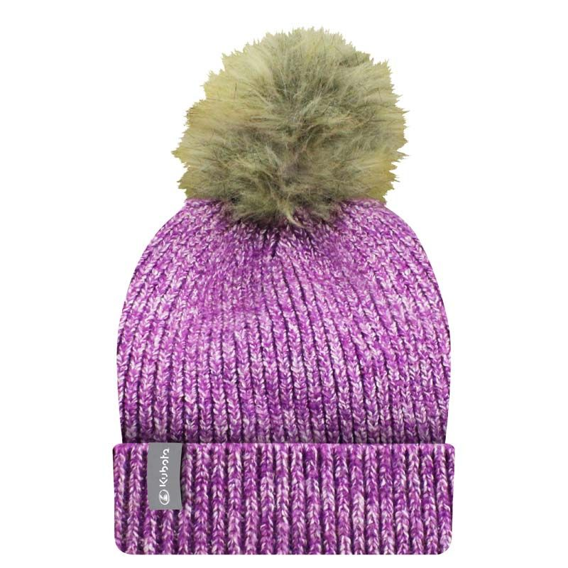 Kubota Ladies Confetti Pom Pom Turn-Up Toque