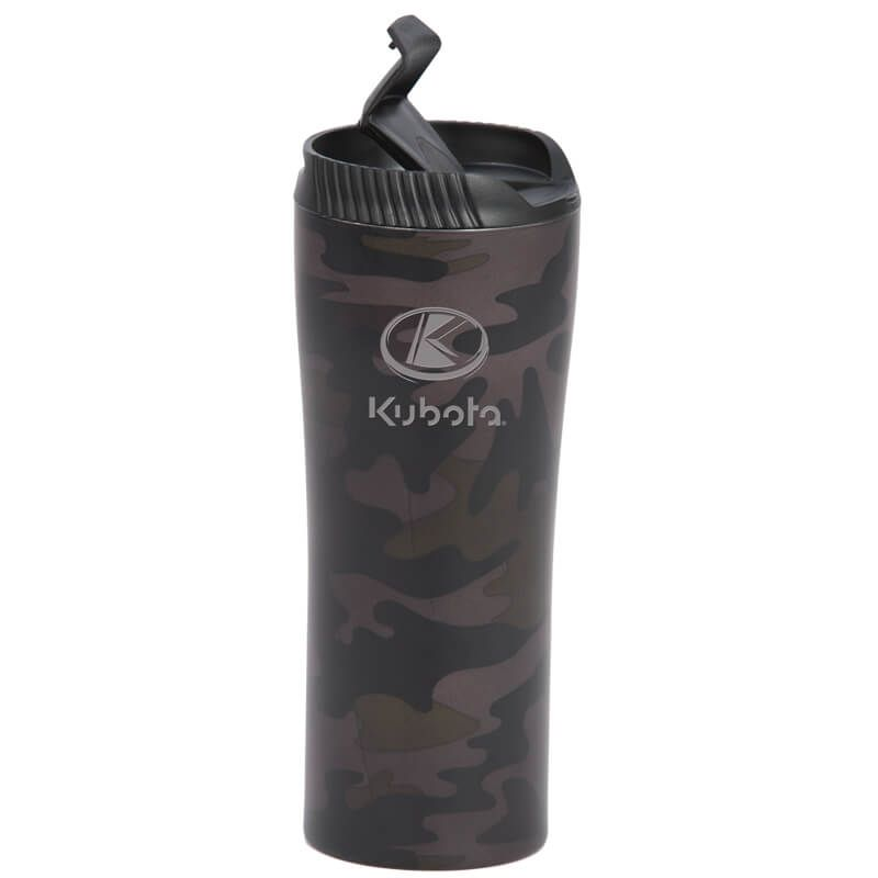 Kubota Vintage Camo Flip Top Travel Mug