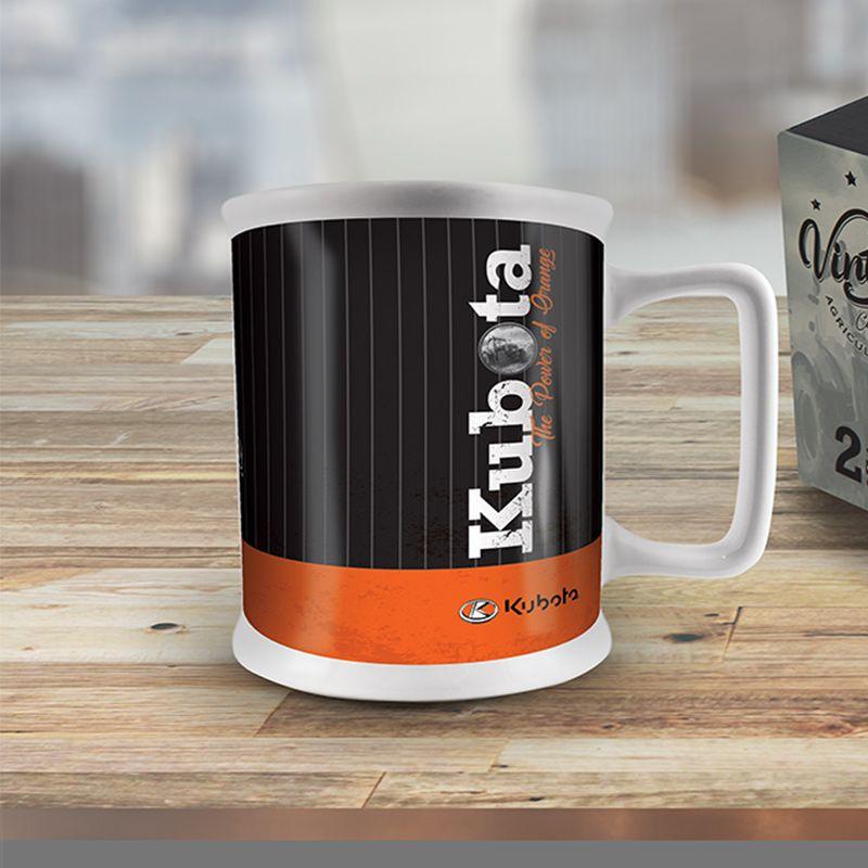 Kubota Vintage Oil Can Ceramic Mug - 2 Pack