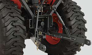 The 3-point hitch accepts a variety of implements for all of your different needs