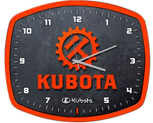 Kubota Vintage Clock - Perfect for the Kubota lover!