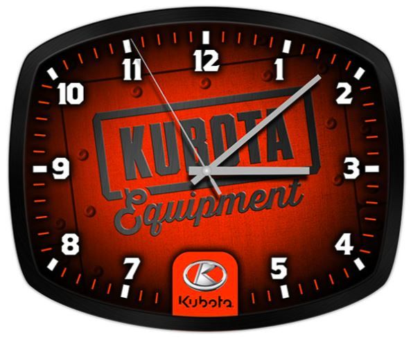 Kubota Clock with black frame - Makes a great gift! STYLE: KB09-3342