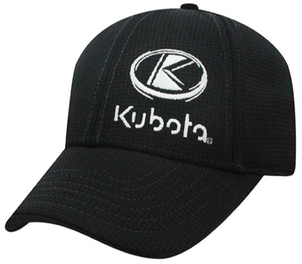 Kubota Hat Black Moisture Wicking