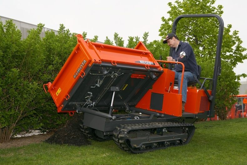 3 direction dumping makes the Kubota KC120HC-4 outstandingly versatile