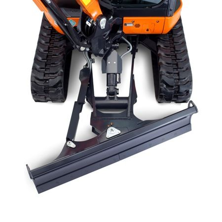 The angle blade provides easier trench backfilling, and the float position provides better back grading