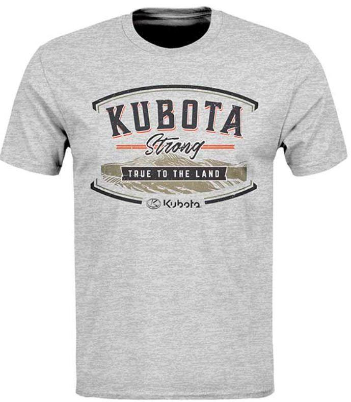 "Kubota Grey Tshirt ""Kubota Strong True to the Land"""