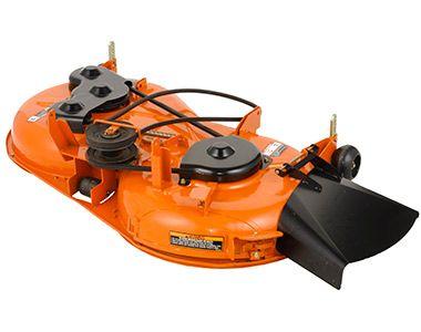 Kubota 3-in1 Infinity Mower Deck; 1. Side Discharge, 2. Mulching Mode, 3. Grass Catching Mode.