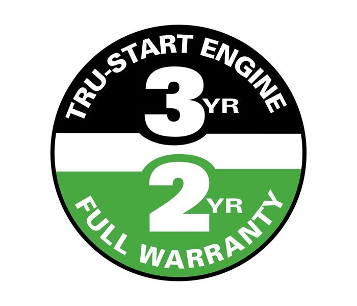 Your Lawn-Boy will start on one or two pulls for three years or we'll fix it for free! Starting, Power, Parts are all covered under Lawn-Boy's 2-Year Complete Coverage warranty.