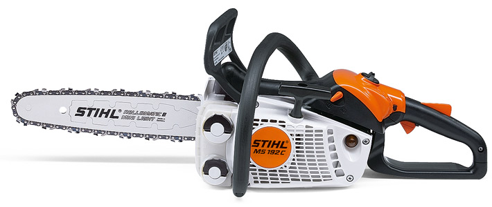 MS 193 C-E STIHL arborist chainsaw Left view