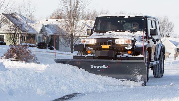 SnowEx 7200LT light duty straight blade snowplow