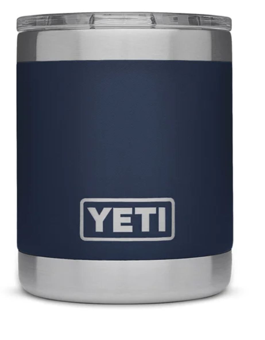 Navy YETI Rambler 10oz Lowball with Standard Lid