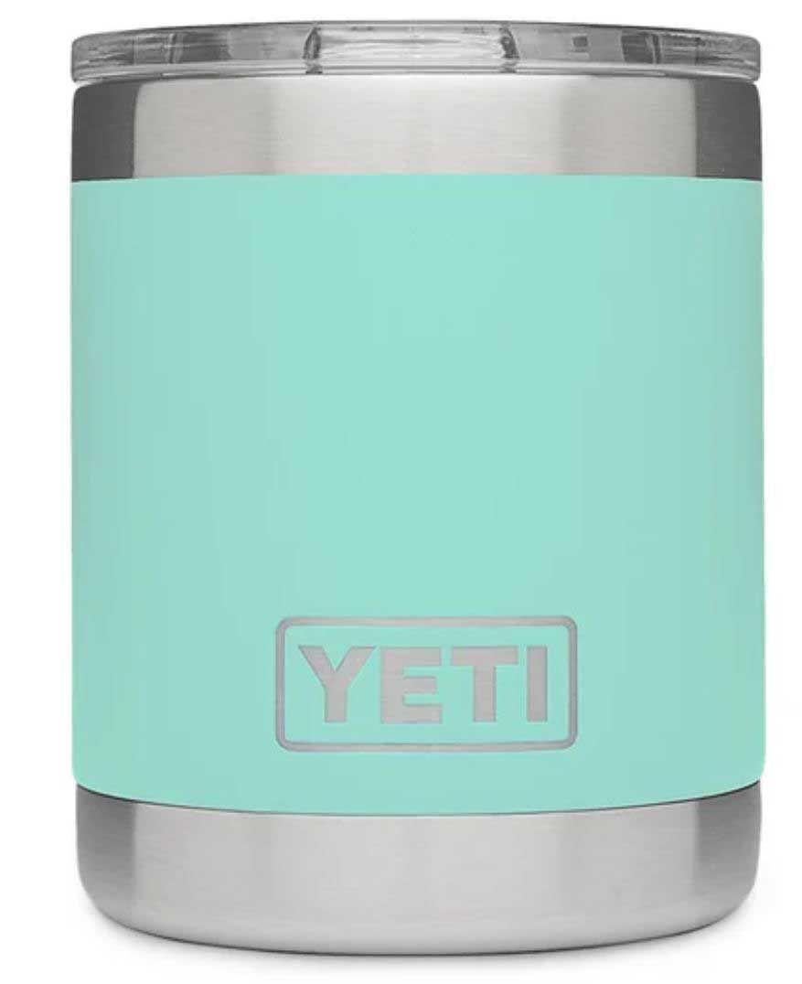 Seafoam YETI Rambler 10oz Lowball with Standard Lid