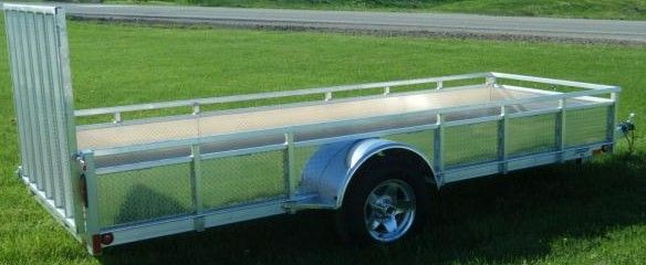 "Millroad Aluminum Custom Trailer 60""x14' with Solid Sides MS514"