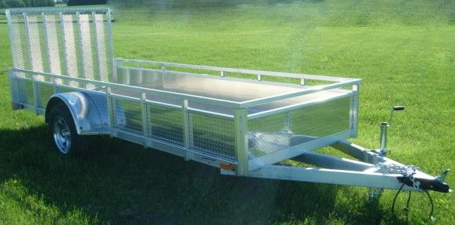 "Millroad Aluminum Custom Trailer 80""x12' with Solid Sides MS1280"