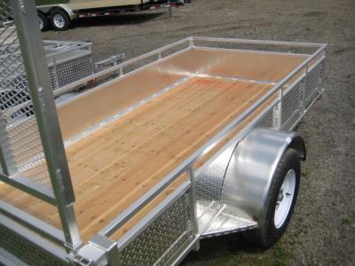 Treated wood floor on MillRoad trailer