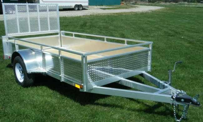 MillRoad Aluminum Custom Trailer with Solid Sides (5'x8') Model MS58