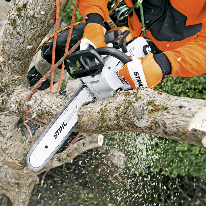 STIHL MS 201 T In use