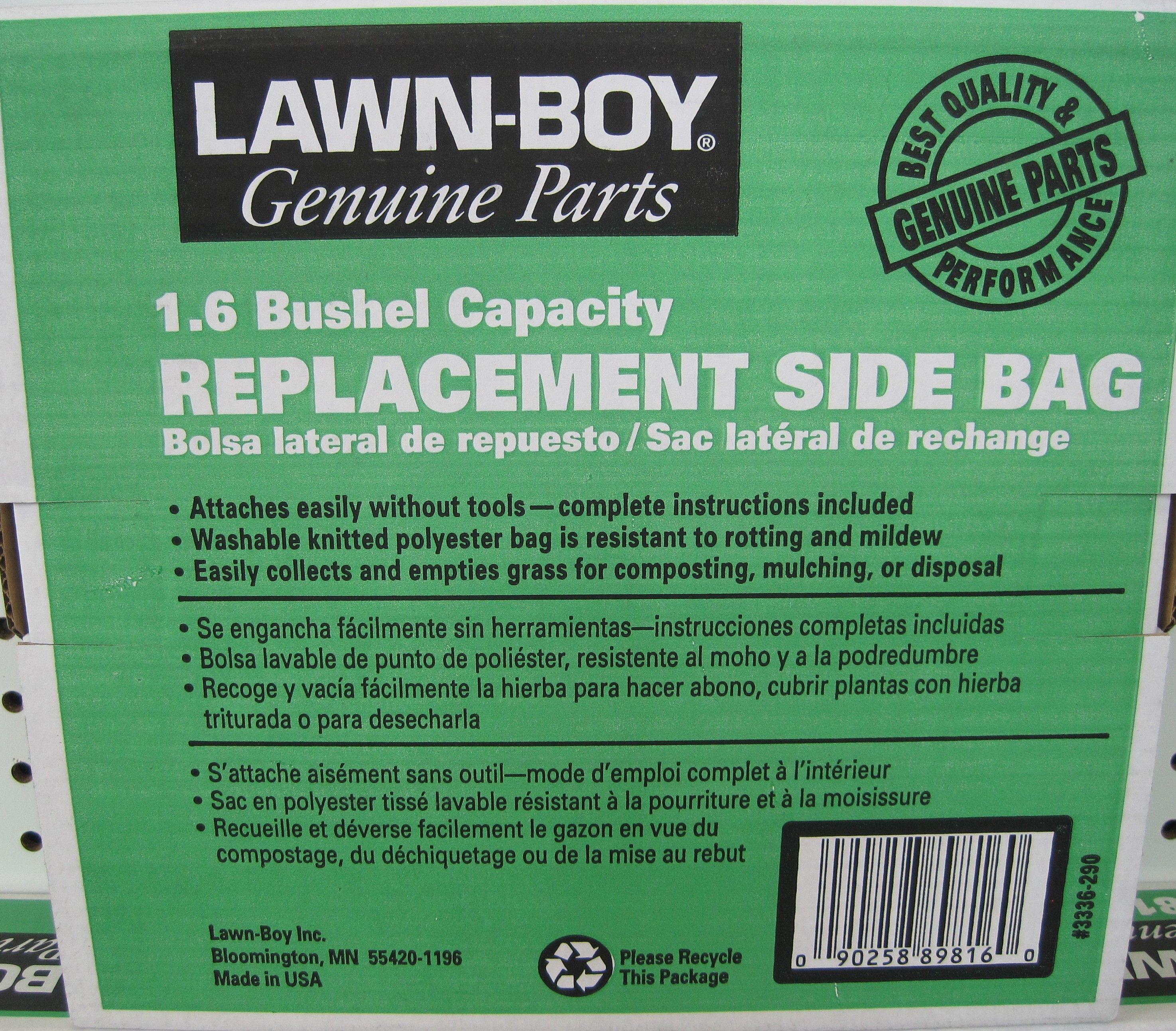 side bag for LawnBoy push Mower
