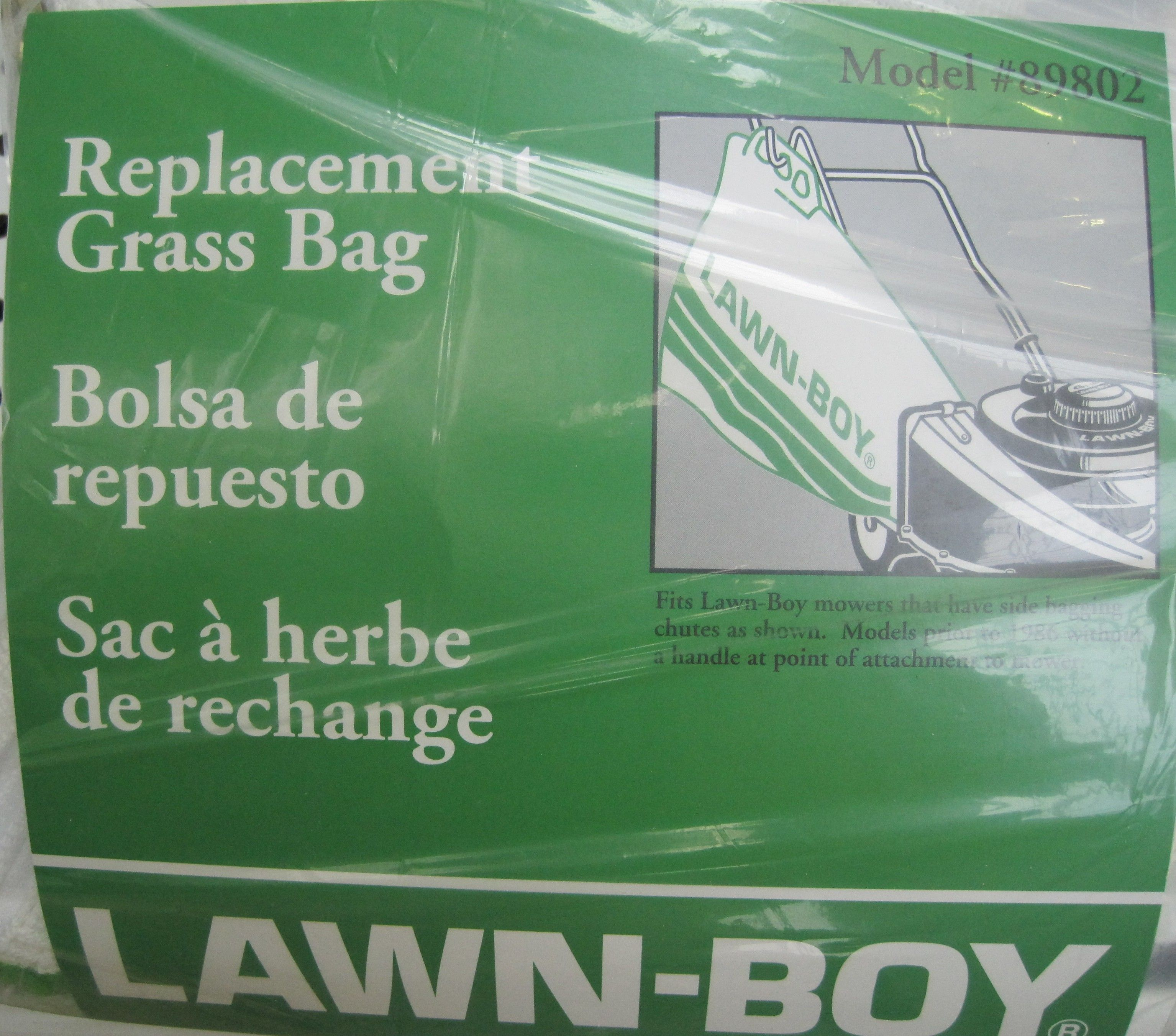 replacement side bag for older model Lawnboy Mowers