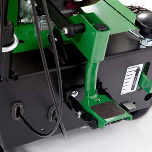 OS901 foot pedal - New foot actuated height adjust raises and lowers the reel effortlessly and provides more blade depth.
