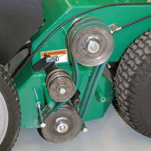 Dual Belts - Increases life and efficiency.