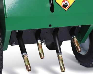 """Four (4) Machined & Heat Treated Hardened Thin Wall Tines -Simple, durable screw-in design makes service simple. 5/8"""" diameter."""