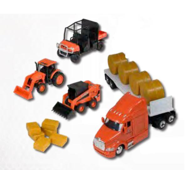 Kubota Farm Tractors & Flatbed Semi Playset