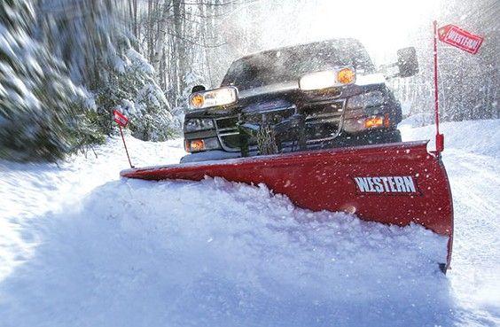 """Western 8.5 Fleet Flex Pro Western Snowplow has a powder-coated STEEL PRO-PLOW blade that is 29"""" tall"""