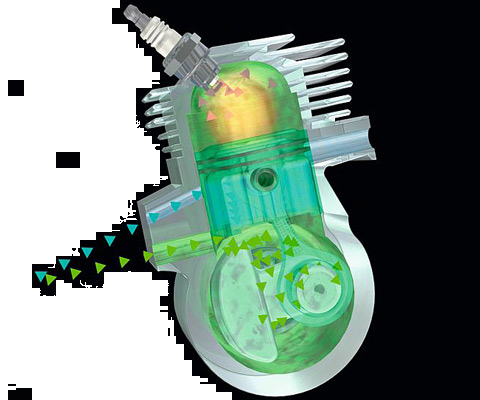 Reduced Emission Engine Technologoy - more power with a lower weight, up to 20% lower fuel consumption than regular 2-stroke engines and significantly reduced exhaust emissions.