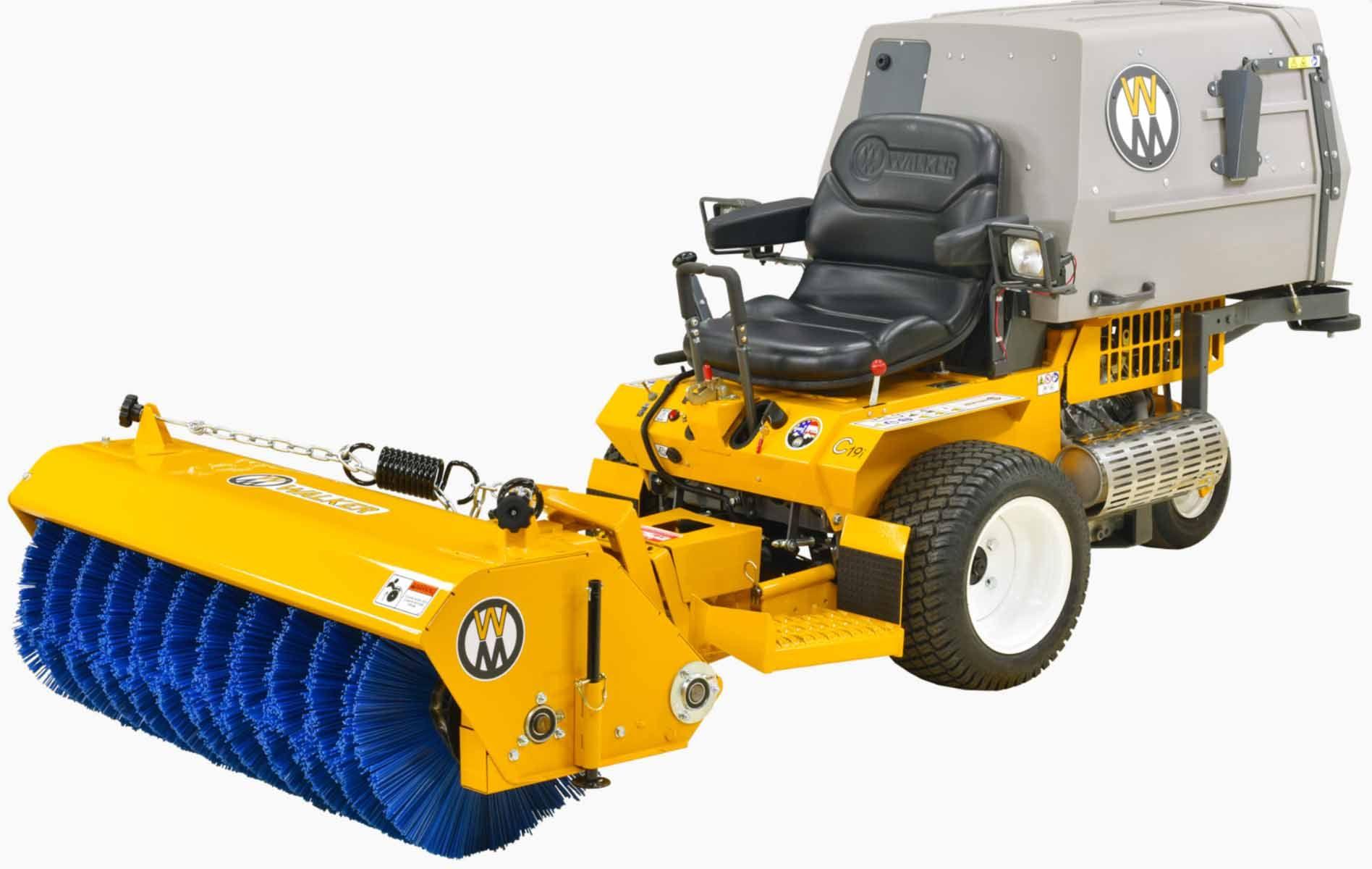 Walker Mower Rotary Broom Attachment