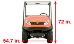 In width, the RTV500 can fit easily into the back of a standard size pick-up truck or trailer