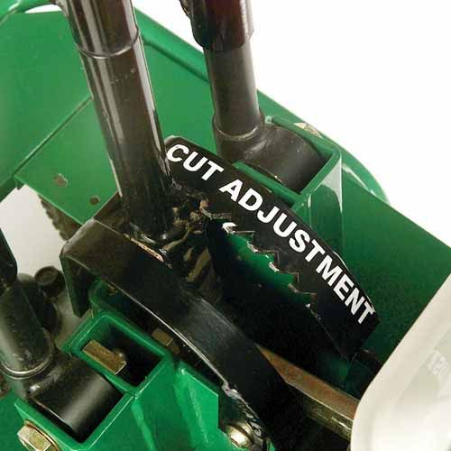 One-Step Cut Adjustment - Change cutting depth by moving a single lever