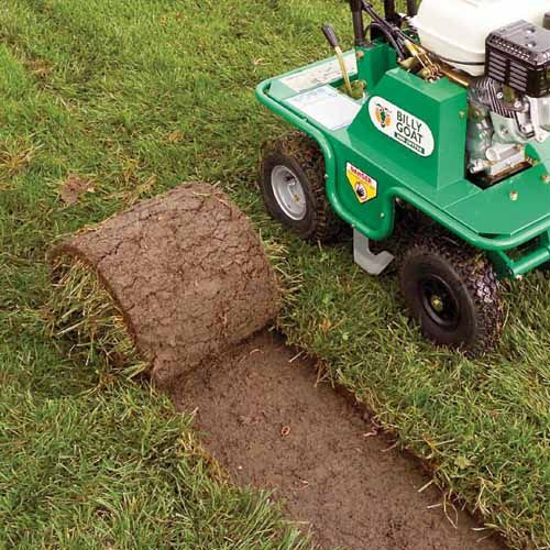 "Cuts Sod Cleanly and Evenly - 12"" cutting width and up to 1.38"" deep."