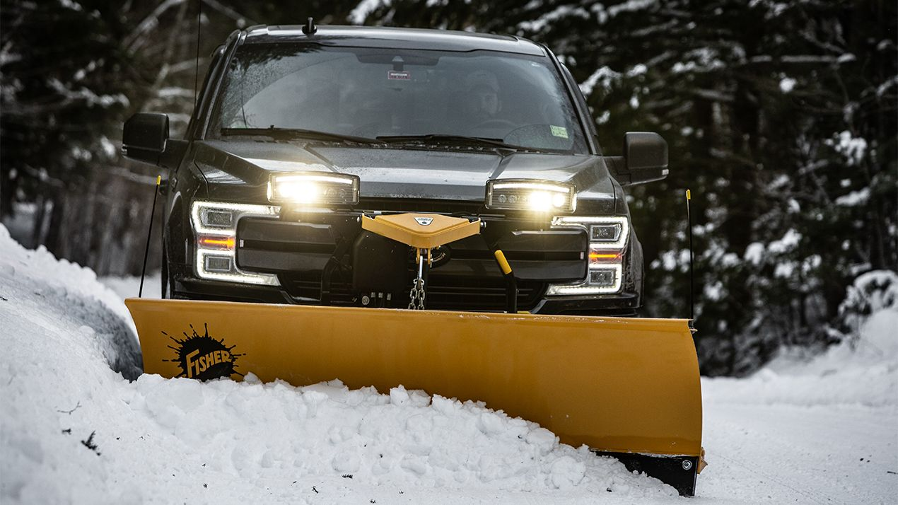 "Clear with ease thanks to the Fisher 6'9"" Fleet Flex SD Plow"
