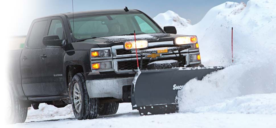 SnowEx Regular Duty 7600RD straight blade 7 foot 6 inch snowplow