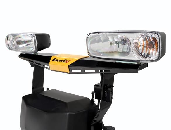 STORM SEEKER™ halogen headlamps provide a bright, smooth, wide beam pattern and absorb road vibrations.