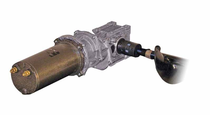 Longitudinal auger transmission