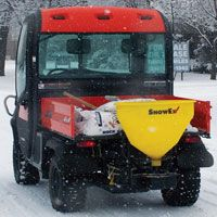 SnowEx SP-225 shown on back of Kubota RTV Utility Vehicle