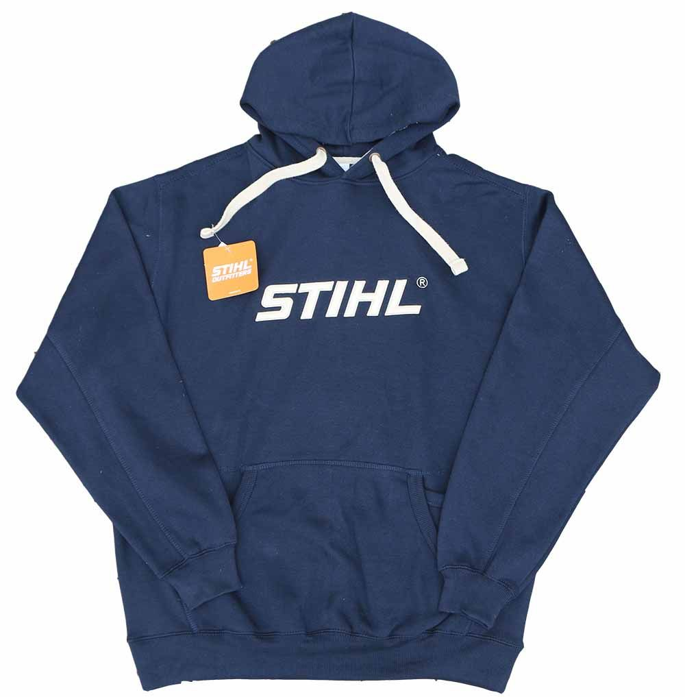 STIHL Navy Super Heavyweight Hooded Sweatshirt