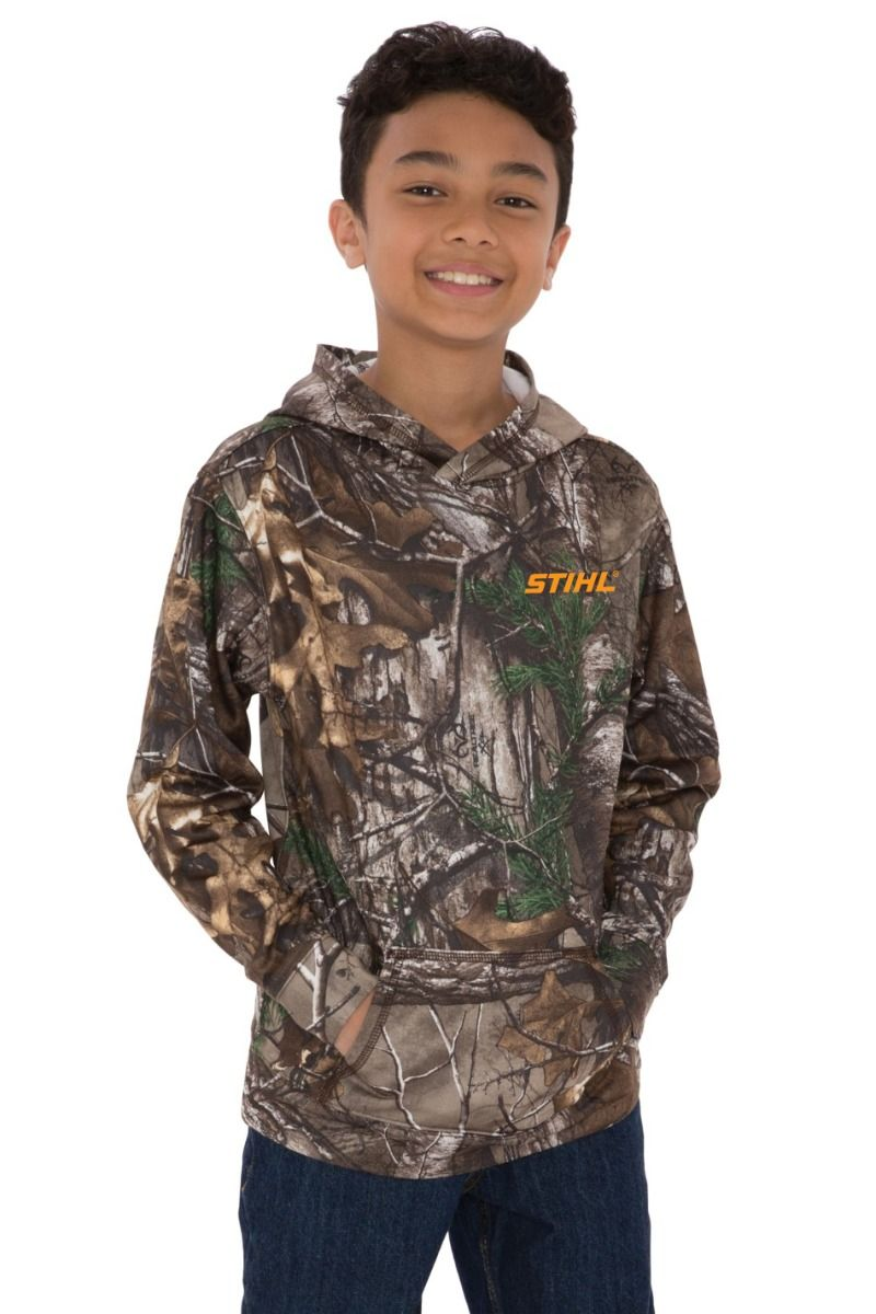 Youth Realtree Camo Hoodie by STIHL