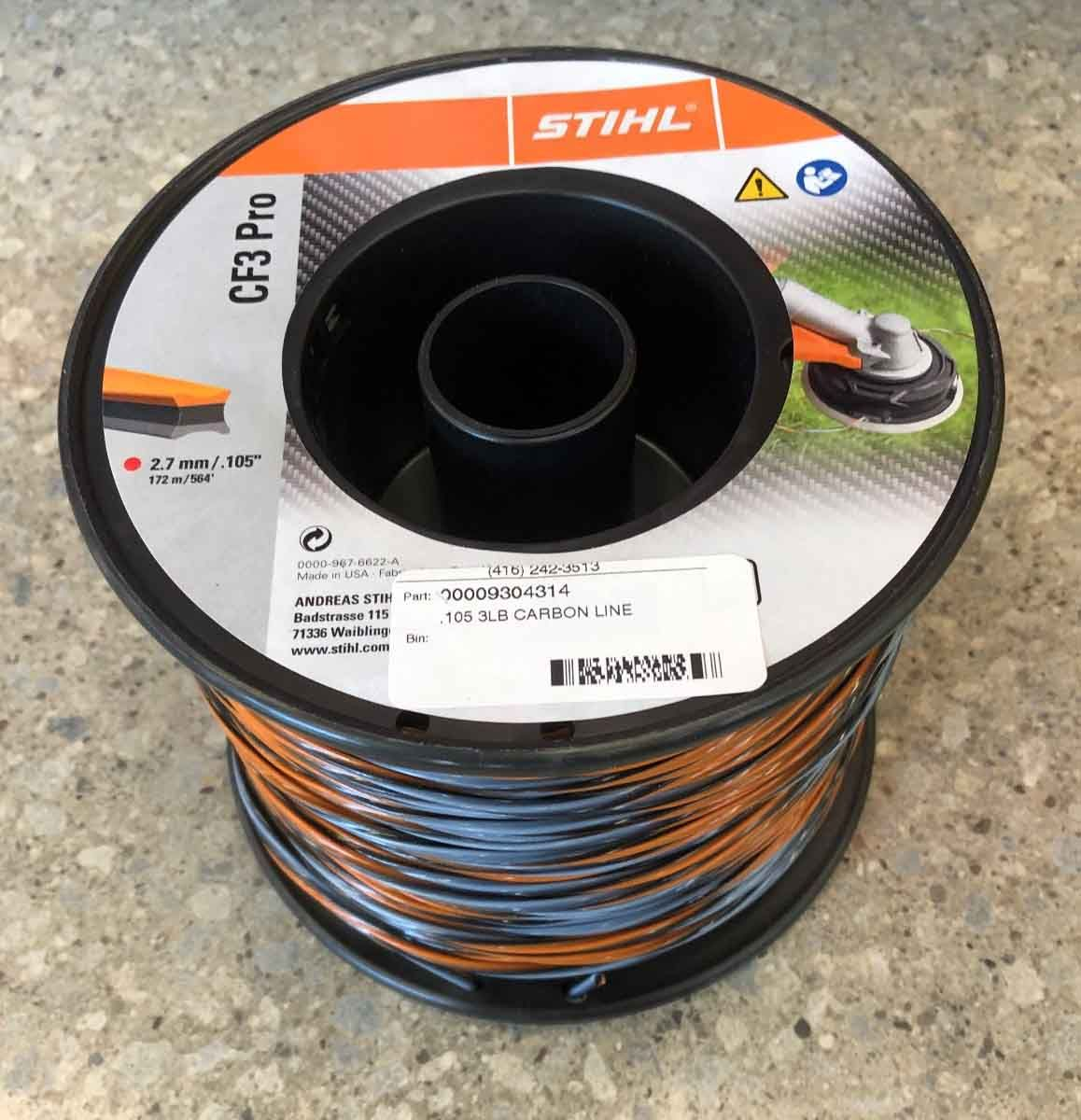 Stihl .105 Carbon Trimmer Line 3lb Roll