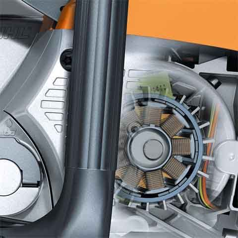 Lightweight and compact, STIHL electric motors require minimal maintenance and feature low noise levels and reduced vibration.