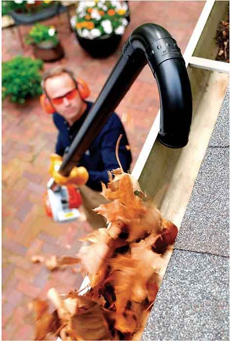 STIHL Blower Gutter Kit. Simply attach this kit to your STIHL handheld blower and clean your eaves-troughs with ease.