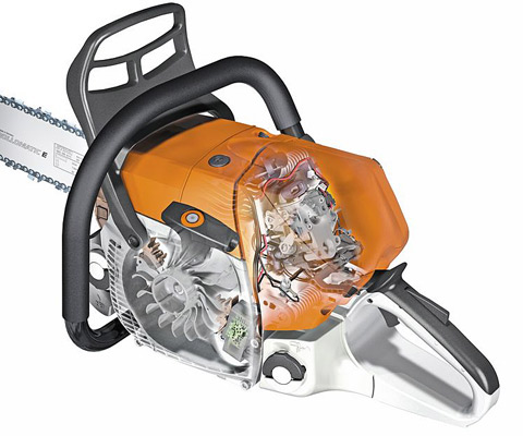 The engine management STIHL M-Tronic (M) system ensures optimum engine performance, constant maximum speed and excellent acceleration.
